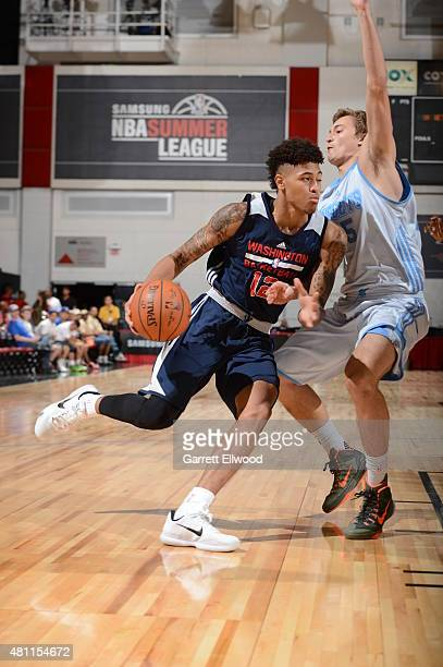 Kelly Oubre Jr #12 of the Washington Wizards drives to the basket against the Denver Nuggets on July 17 2015 at Cox Pavilion in Las Vegas Nevada NOTE...