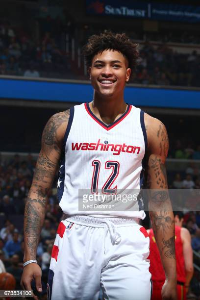 Kelly Oubre Jr #12 of the Washington Wizards is seen against the Atlanta Hawks in Game Five of the Eastern Conference Quarterfinals of the 2017 NBA...