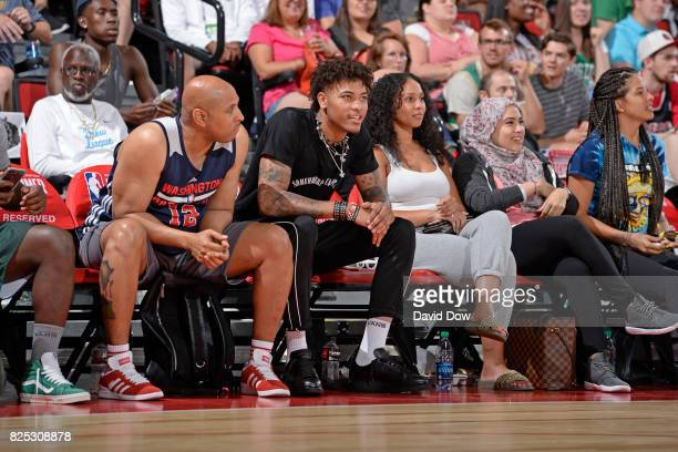 Kelly Oubre Jr #12 of the Washington Wizards is seen at the game between the Washington Wizards and the Memphis Grizzlies during the 2017 Summer...