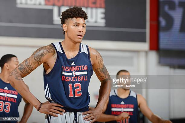 Kelly Oubre Jr #12 of the Washington Wizards Looks on during the game against the DLeague Selects on July 12 2015 at the Cox Pavilion in Las Vegas...