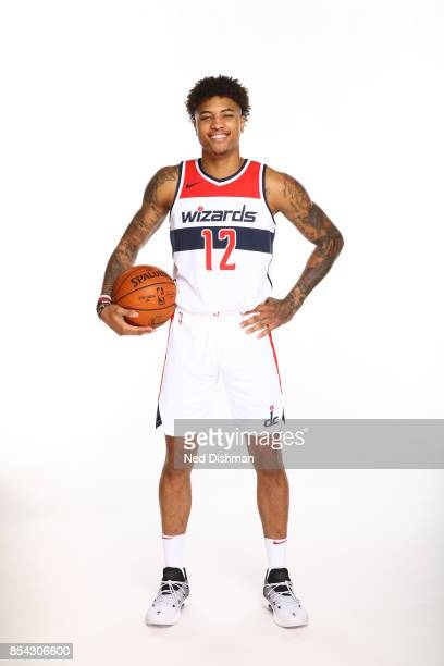 Kelly Oubre Jr #12 of the Washington Wizards poses for a portrait during Media Day on September 25 2017 at Capital One Center in Washington DC NOTE...