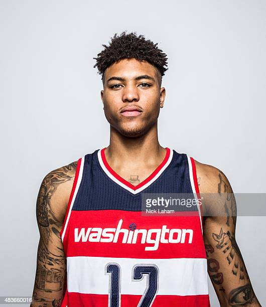 Kelly Oubre Jr #12 of the Washington Wizards poses for a portrait during the 2015 NBA rookie photo shoot on August 8 2015 at the Madison Square...
