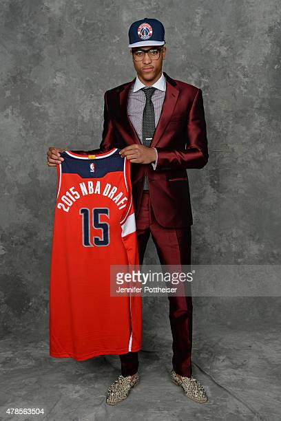 Kelly Oubre poses for a portrait after being after being traded to the Washington Wizards at the Barclays Center on June 25 2015 in the Brooklyn...