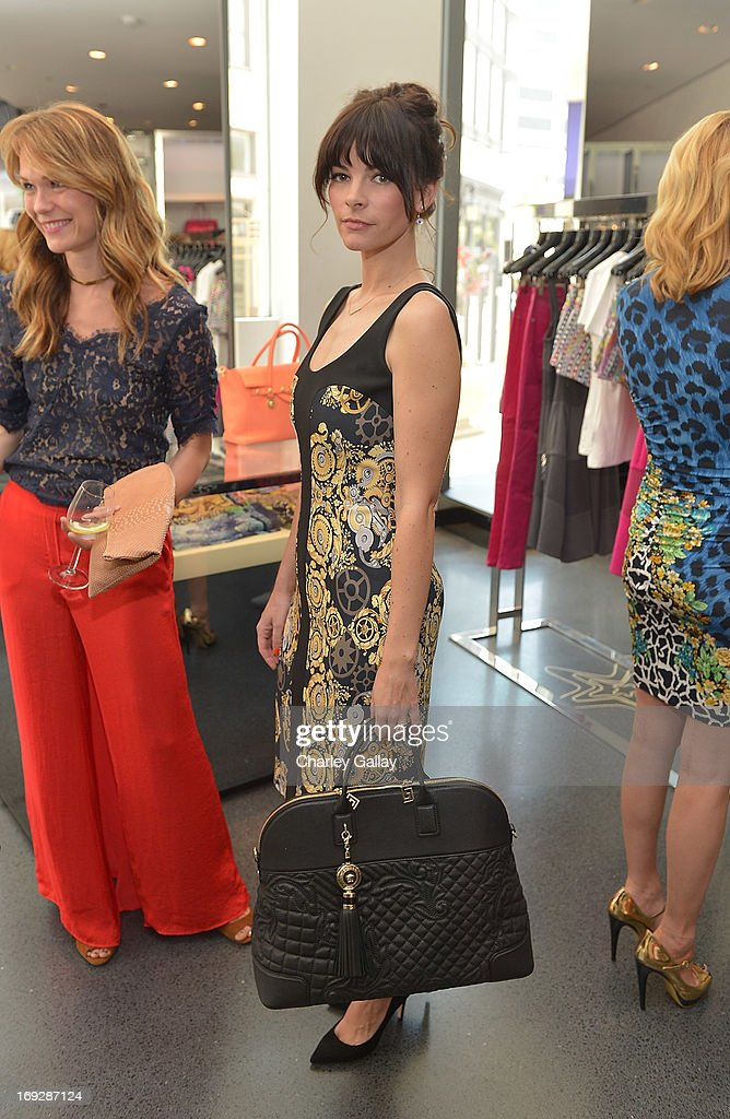Kelly Oxford attends Versace, Vanity Fair, And Elizabeth Banks Luncheon Benefitting Vital Voices Global Partnership at Versace on May 22, 2013 in Beverly Hills, California.