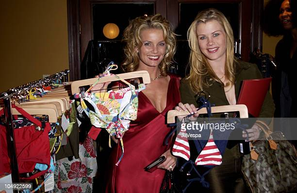Kelly Packard Alison Sweeney during Mercedes Benz Unicef Fashion For Freedom at Chaz Dean Studios in Los Angeles California United States
