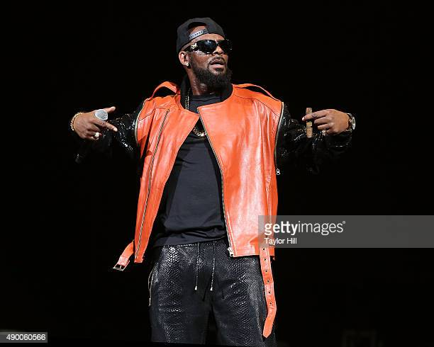 R Kelly performs at Barclays Center on September 25 2015 in the Brooklyn New York City