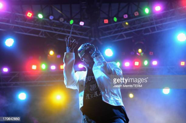 R Kelly performs onstage at Which Stage during day 3 of the 2013 Bonnaroo Music Arts Festival on June 15 2013 in Manchester Tennessee