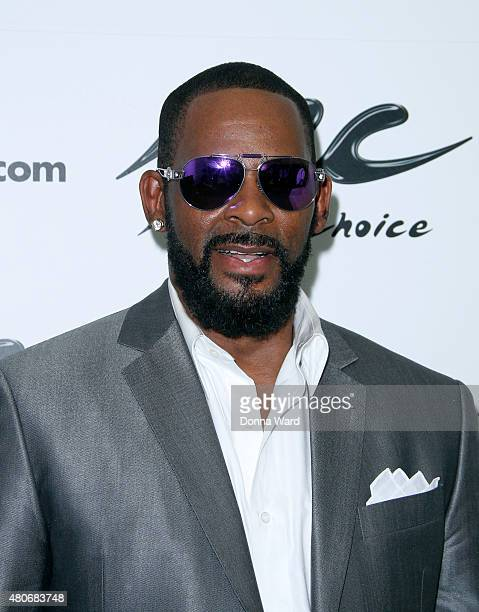 R Kelly poses at Music Choice on July 14 2015 in New York City