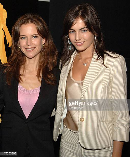 Kelly Preston and Camilla Belle during The Chumscrubber Advance Screening at Landmark Cinema E Street in Washington District of Columbia United States