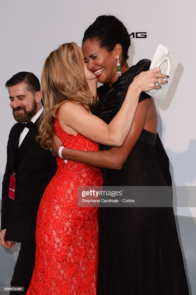Kelly Preston and Danny Mendez at the amfAR's 21st Cinema Against AIDS Gala at Hotel du Cap-Eden-Roc during the 67th Cannes Film Festival