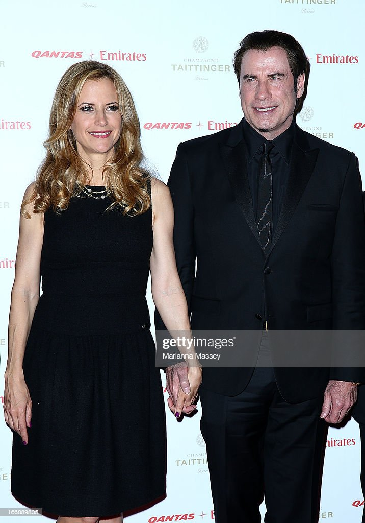 <a gi-track='captionPersonalityLinkClicked' href=/galleries/search?phrase=Kelly+Preston&family=editorial&specificpeople=159434 ng-click='$event.stopPropagation()'>Kelly Preston</a> and <a gi-track='captionPersonalityLinkClicked' href=/galleries/search?phrase=John+Travolta&family=editorial&specificpeople=178204 ng-click='$event.stopPropagation()'>John Travolta</a> attend the QANTAS Gala Dinner at Sydney Domestic Airport on April 18, 2013 in Sydney, Australia.