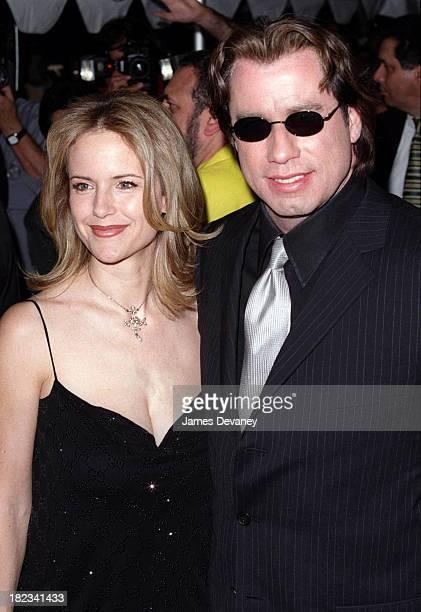 Kelly Preston and John Travolta during Swordfish New York Premiere at Ziegfeld Theatre in New York City New York United States