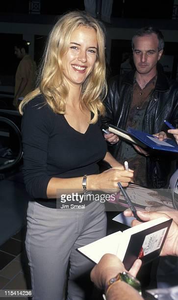 Kelly Preston during Kelly Preston Sighting at Lemle Sunset 5 Theatre June 26 1997 at Lemle Sunset 5 Theatre in Los Angeles California United States