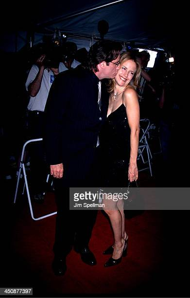 Kelly Preston John Travolta during Swordfish New York Premiere at Ziegfeld Theatre in New York City New York United States