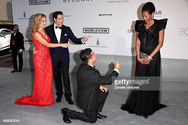 Kelly Preston John Travolta Oscar Generale and Danny Mendez attend amfAR's 21st Cinema Against AIDS Gala Presented By WORLDVIEW BOLD FILMS And...