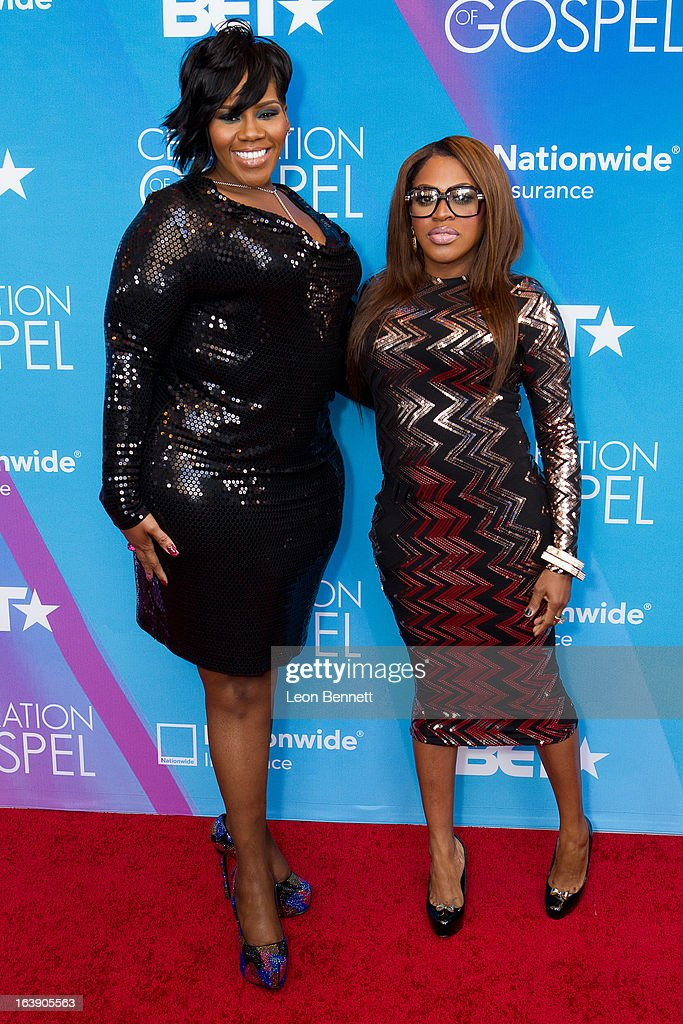 Kelly Price and LiL Mo arrives at the BET Network's 13th Annual 'Celebration of Gospel' at Orpheum Theatre on March 16, 2013 in Los Angeles, California.