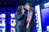 Kelly Price and Luke James perform at the 2016 Essence Music Festival at the MercedesBenz Superdome on July 3 2016 in New Orleans Louisiana