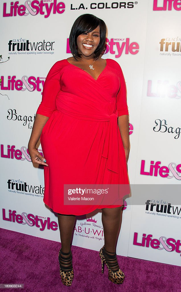 Kelly Price arrives at Life & Style's Hollywood In Bright Pink Event Hosted By Giuliana Rancic at Bagatelle on October 9, 2013 in Los Angeles, California.