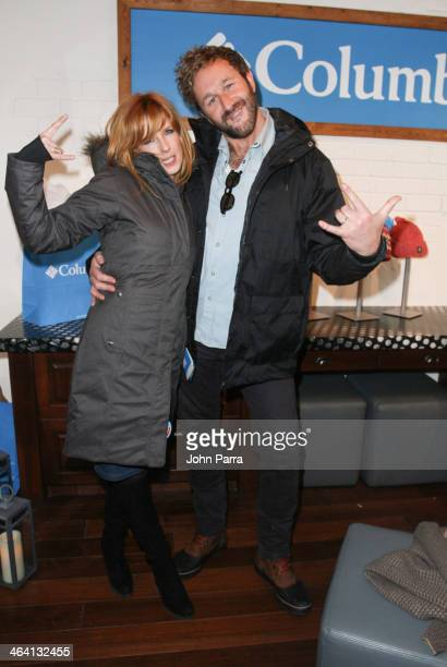 Kelly Reilly and Chris O'Down attend the Columbia Lounge at The Village At The Lift Day 4 on January 20 2014 in Park City Utah