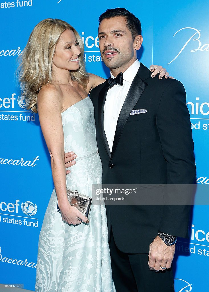 Kelly Ripa and Mark Consuelos attend sUNICEF Snowflake Ball 2012 at Cipriani 42nd Street on November 27, 2012 in New York City.