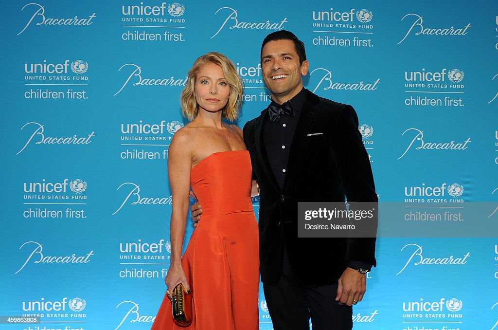 Kelly Ripa and Mark Consuelos attend the 10th Annual Unicef Snowflake Ball at Cipriani Wall Street on December 2, 2014 in New York City.