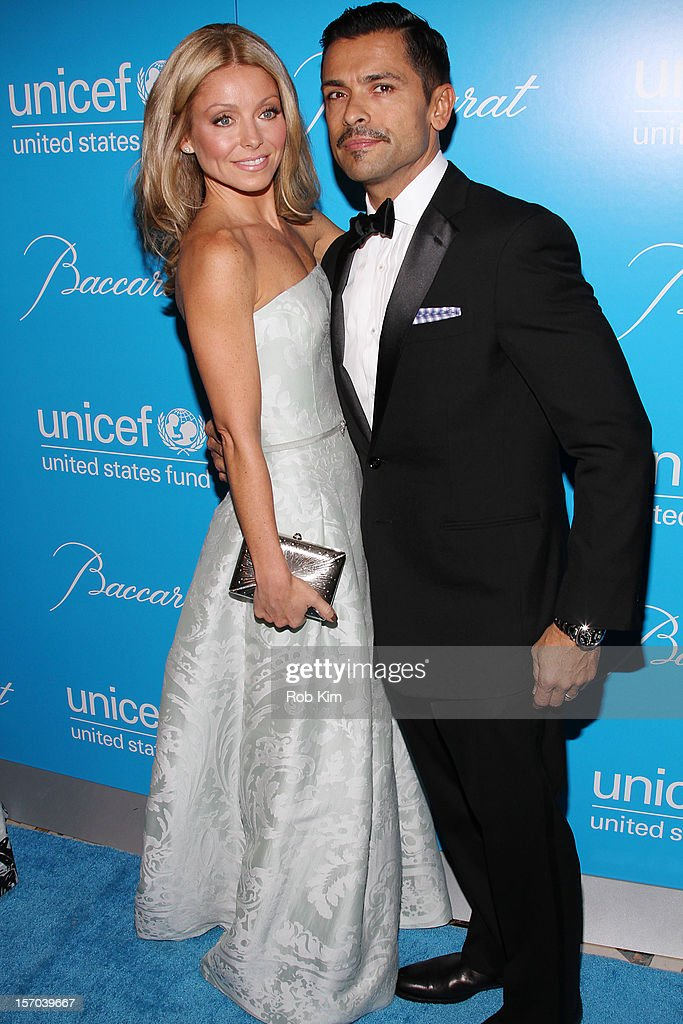 Kelly Ripa and Mark Consuelos attend the 2012 UNICEF Snowflake Ball at Cipriani 42nd Street on November 27, 2012 in New York City.
