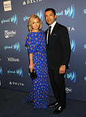 Kelly Ripa and Mark Consuelos attend the 26th Annual GLADD Media Awards at The Waldorf Astoria on May 9 2015 in New York City