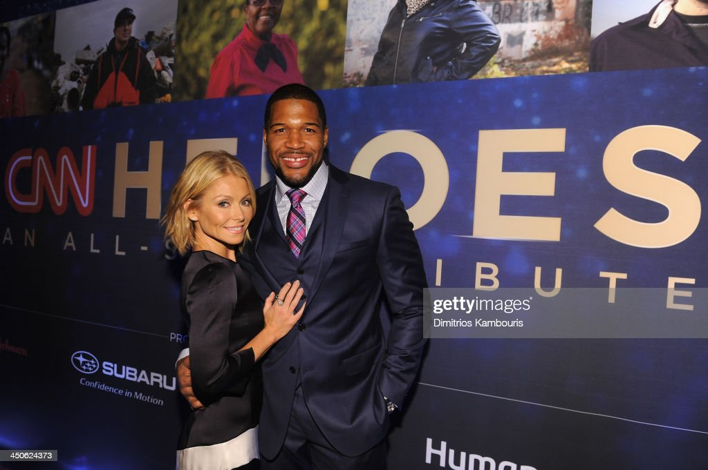 <a gi-track='captionPersonalityLinkClicked' href=/galleries/search?phrase=Kelly+Ripa&family=editorial&specificpeople=202134 ng-click='$event.stopPropagation()'>Kelly Ripa</a> and <a gi-track='captionPersonalityLinkClicked' href=/galleries/search?phrase=Michael+Strahan&family=editorial&specificpeople=210563 ng-click='$event.stopPropagation()'>Michael Strahan</a> attend 2013 CNN Heroes: An All Star Tribute at the American Museum of Natural History on November 19, 2013 in New York City. 24079_014_0532.JPG