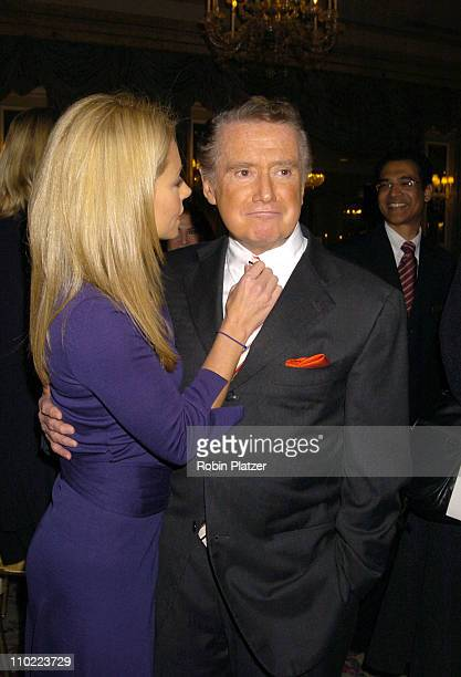 Kelly Ripa and Regis Philbin during 16th Annual PAL Women of The Year Luncheon honoring Kelly Ripa and Paula Zahn at The Pierre Hotel in New York...
