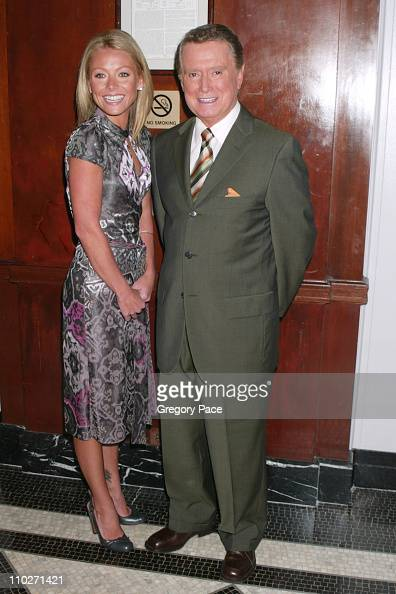 Kelly Ripa and Regis Philbin during The 2005 IRTS Foundation Awards at WaldorfAstoria in New York City New York United States