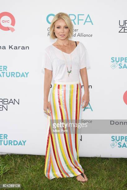 Kelly Ripa attends OCRFA's 20th Annual Super Saturday to Benefit Ovarian Cancer on July 29 2017 in Watermill New York