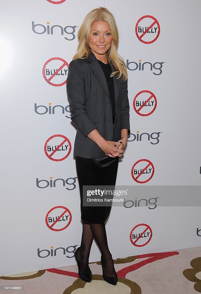 <a gi-track='captionPersonalityLinkClicked' href=/galleries/search?phrase=Kelly+Ripa&family=editorial&specificpeople=202134 ng-click='$event.stopPropagation()'>Kelly Ripa</a> attends The Weinstein Company & Bing screening Of 'Bully' at Crosby Street Hotel on March 11, 2012 in New York City.