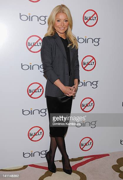 Kelly Ripa attends The Weinstein Company Bing screening Of 'Bully' at Crosby Street Hotel on March 11 2012 in New York City