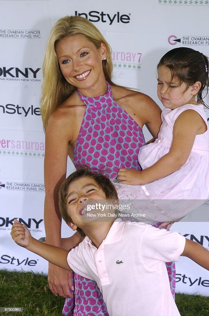 Kelly Ripa, daughter Lola and son Michael are on hand for Super Saturday 7 at Nova?s Ark Project in Water Mill, L.I. The annual day-long event, which features a childrens' carnival and discounted clothing and accessories from over 200 designers, benefits the Ovarian Cancer Research Fund.