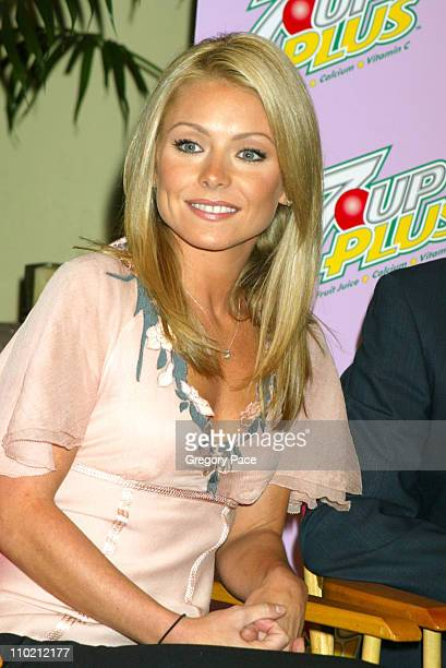 Kelly Ripa during 7UP Plus Commercial Viewing Party Inside at Great Jones Spa in New York City New York United States