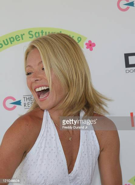 Kelly Ripa during InStyle Magazine Present Super Saturday 9 at Nova's Art Project in Water Mill NY United States