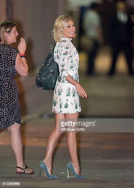 Kelly Ripa is seen at 'Jimmy Kimmel Live' on February 25 2016 in Los Angeles California