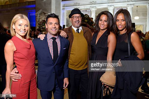 Kelly Ripa Mark Consuelos Clark Johnson Casandra Johnson and Michaela Johnson attend Amazon Studios Premiere Screening for 'Alpha House' on November...