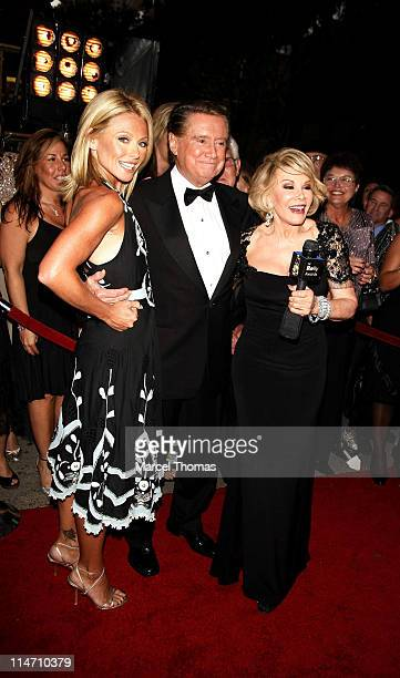Kelly Ripa Regis Philbin and Joan Rivers during Regis Philbin and Kelly Ripa Host the Fourth Annual Relly Awards on 'Live with Regis and Kelly' at...