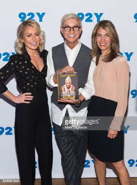 Kelly Ripa Stacey Griffith and Lizzie Tisch attend 'Soulcycle's Stacey Griffith in Conversation with Kelly Ripa'at 92nd Street Y on March 7 2017 in...