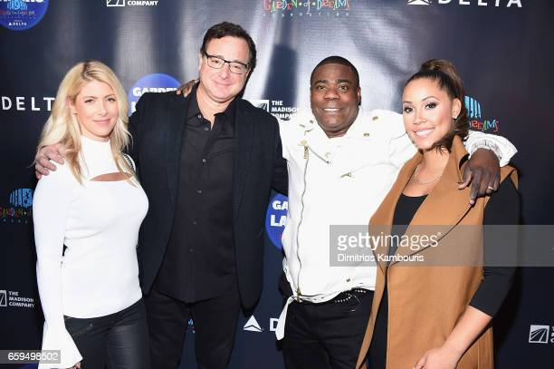 Kelly Rizzo Bob Saget Tracy Morgan and Megan Wollover attend the 2017 Garden Of Laughs Comedy Benefit at The Theater at Madison Square Garden on...