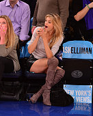Kelly Rohr attends the Utah Jazz vs New York Knicks game at Madison Square Garden on November 14 2014 in New York City