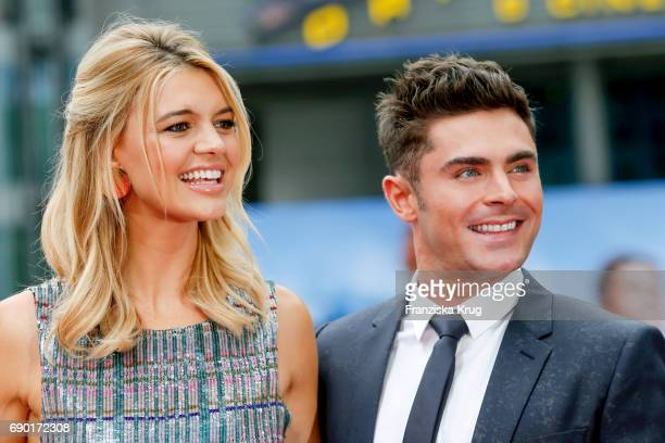 Kelly Rohrbach and Zac Efron attend the 'Baywatch' Photo Call in Berlin on May 30 2017 in Berlin Germany