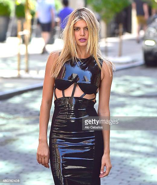 Kelly Rohrbach is during a photo shoot in Soho on July 10 2015 in New York City