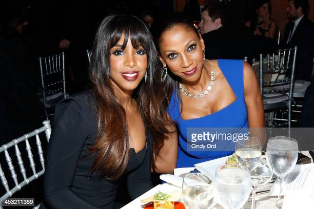 Kelly Rowland and Actress Holly Robinson Peete attend the Winter Ball for Autism at Metropolitan Museum of Art on December 2 2013 in New York City