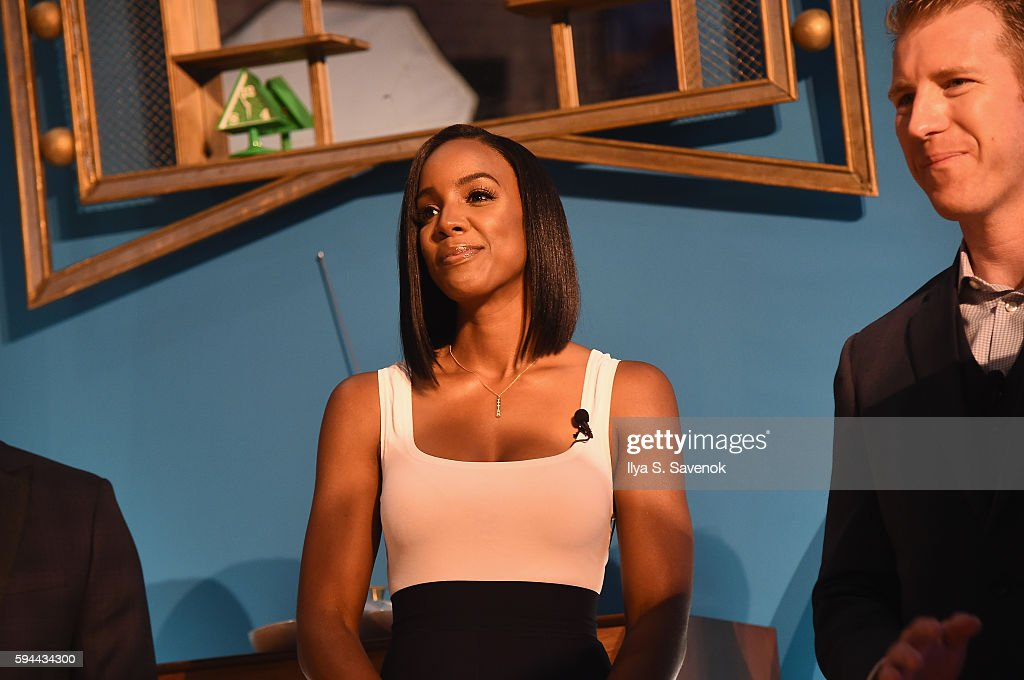 Kelly Rowland and Corporate Affairs Manager for Mars Food North America Matt Hurst attend Ben's Beginners Cooking Contest Launch Event Back to the...