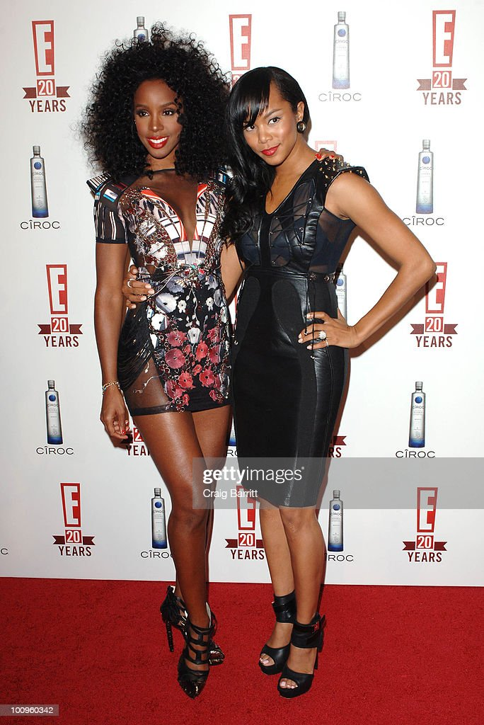 Kelly Rowland and LeToya Luckett arrives at E! Entertainment's 20th Birthday Celebration at The London Hotel on May 24, 2010 in West Hollywood, California.