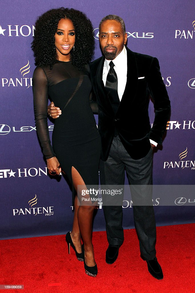 Kelly Rowland and Louis Carr attend BET Honors 2013: Red Carpet Presented By Pantene at Warner Theatre on January 12, 2013 in Washington, DC.