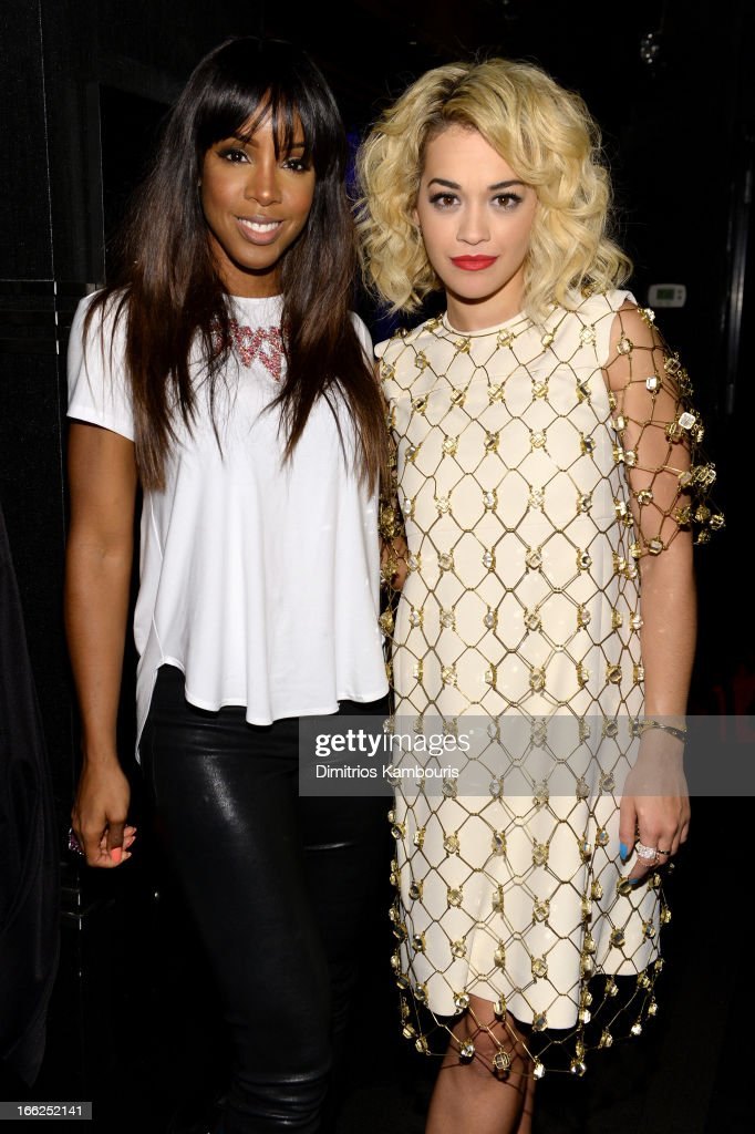 Kelly Rowland and Rita Ora attend the 4th Annual ELLE Women in Music Celebration at The Edison Ballroom on April 10, 2013 in New York City.