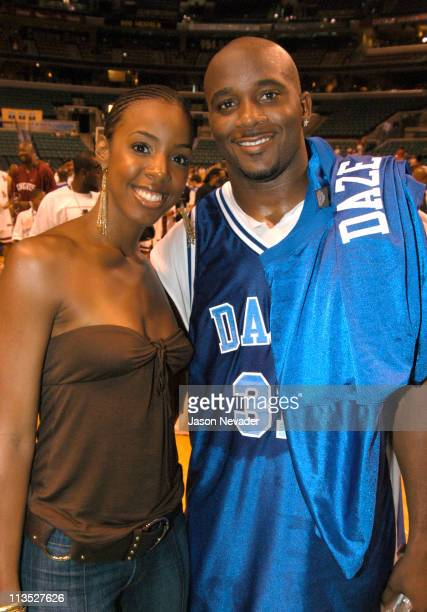 Kelly Rowland and Roy Williams during *NSYNC's Challenge for the Children VI Day 3 Basketball Game at Office Depot Center in Sunrise Florida United...